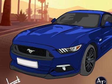 For Mustang, Vector Art!