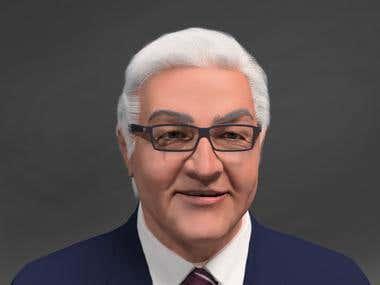 Steinmeier (German politician) model for rendering in vray