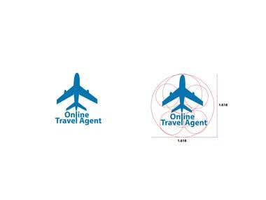 online agent logo based on golden ration