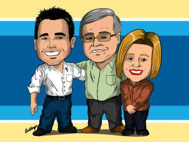 Caricatura familiar / Family caricature