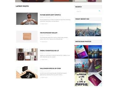 Locinlife - Wordpress blog website
