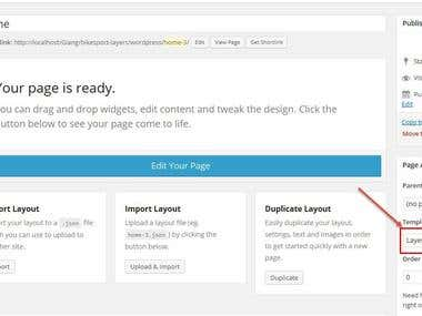 WordPress page create