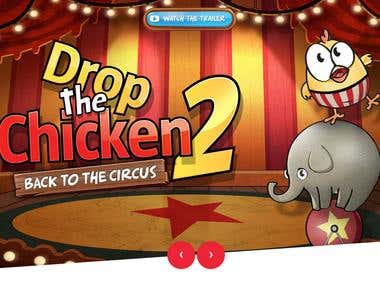 Official iOS Game and Website - Drop The Chicken
