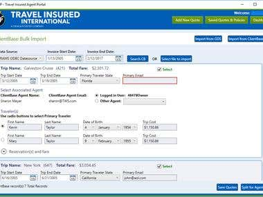 TravelInsured Agent Portal