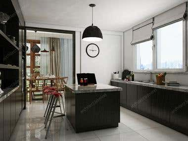 INTERIOR DESIGN Kitchen Dinning Interior Design