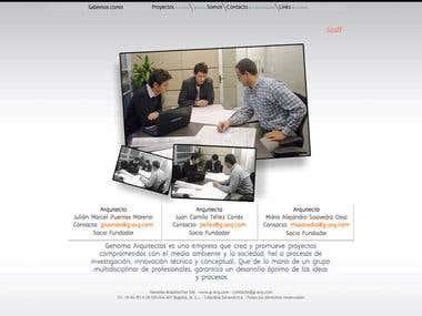 Sitio web Genoma Arquitectos