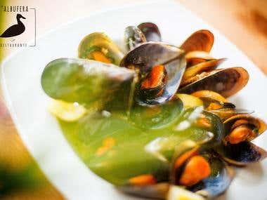 Food photography for L'Albufera restaurant