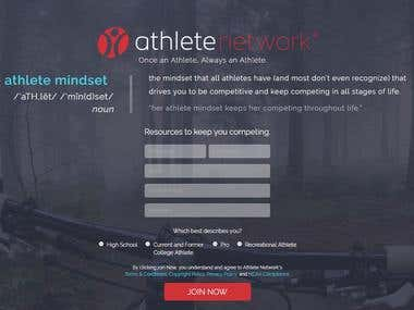 Athlete Network Website Testing