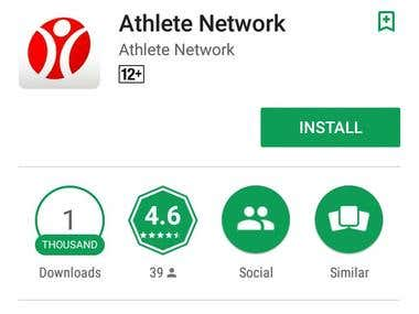 Athlete Network App Testing (Android & Iphone )