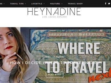 Heynadine - A blog of travel videos and vlogs.