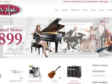 Willis Music Website Development United States