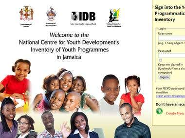 PHP Web Application - National Centre for Youth Development