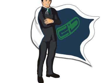"""Insurance company """"superhero"""" icon"""