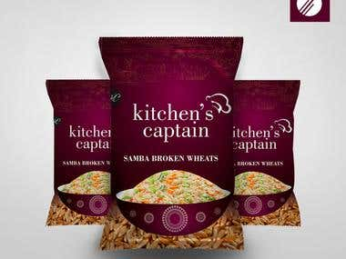 Package design for Kitchen Captain