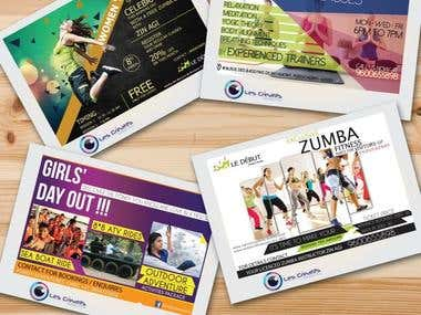 Flyers and Magazine design