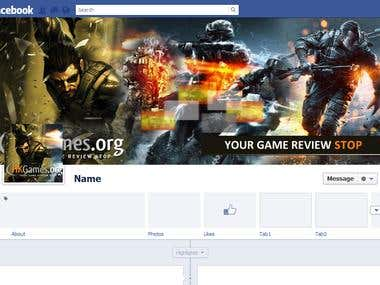 Facebook fan page design.