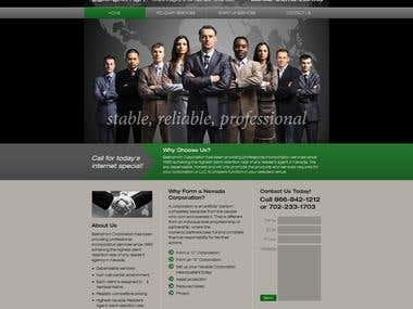 Joomla site for Ballinphort Corporation