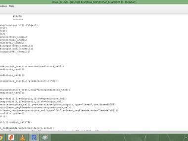 Coding on R