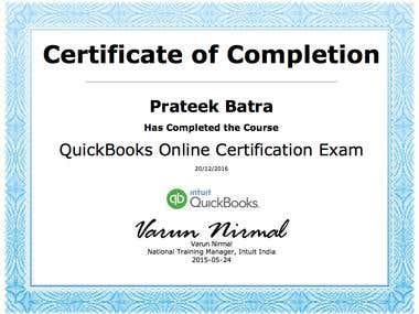 Quickbooks certification