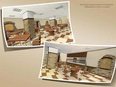 reconstruction of the cafe