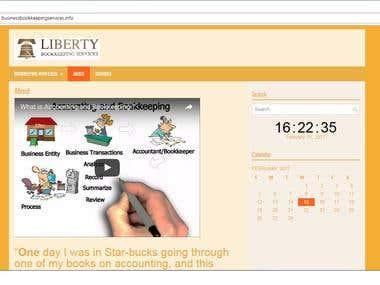 Wordpress Online Bookkeeping website