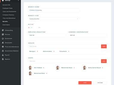 DASHBOARD DESIGNS WIREFRAMING