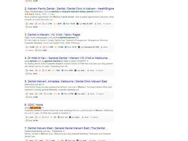 Google Top Ranking - Cdic.com.au - General Dentist Malvern
