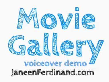 Voiceover Demo for Movie Gallery