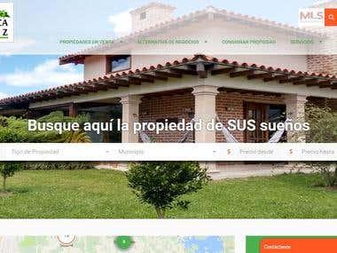 Sitio De Real Estate para Venta de Propiedades Su Finca Raiz