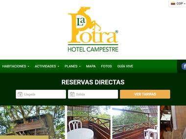 Sitio Web de Reservas Hotel Campestre La Potra.