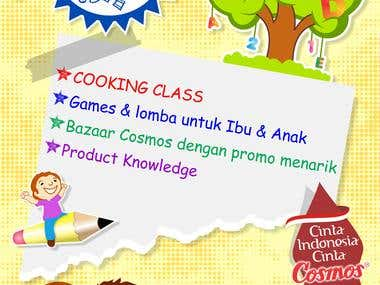 Poster A3 Cosmos Goes To School Event
