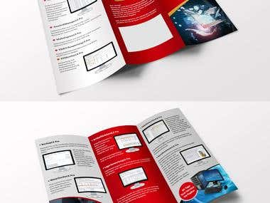 3-fold Brochure for Lexware.
