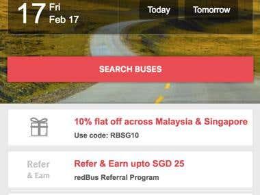 Redbus Singapore Mobile Website