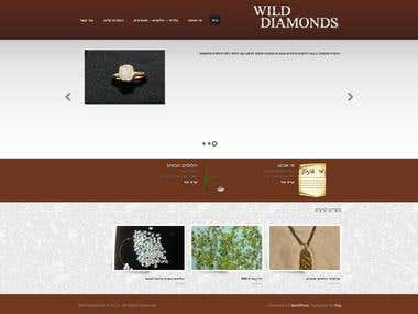 Wild Diamonds - A website customized for a client