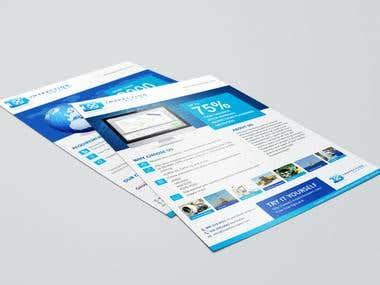 I have done a flyer design for Inspection expert.
