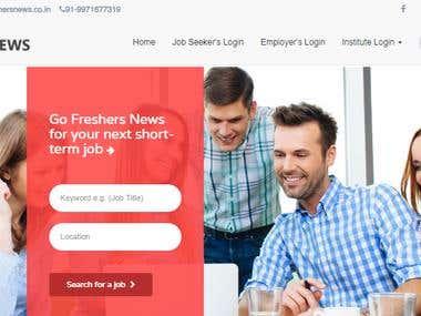 Freshersnews || Job portal wen=bsite