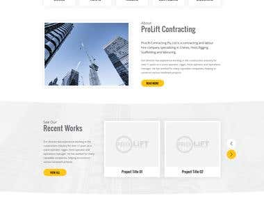 Prolift Contracting Website build from ground Zero
