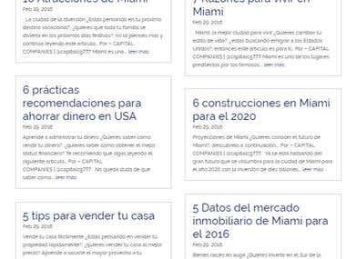 Redacción del Blog de Capital Companies USA