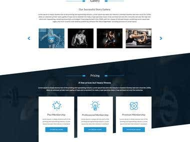 Fitness Company Website Design