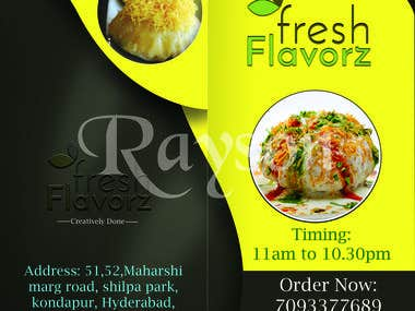 Menu Card Design for Restaurant