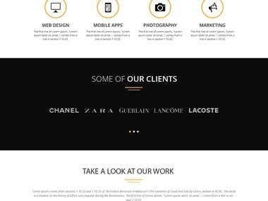 Psd to html landing page