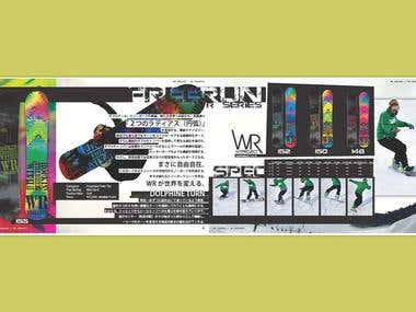 Catalogue Design: WR snowboard series