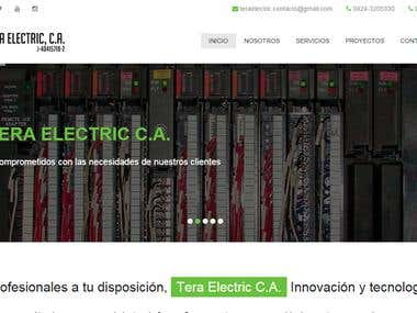 TERA ELECTRIC - Web site design
