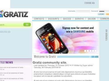 Gratiz community site