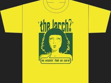 THE LARCH? - a band's t-shirt
