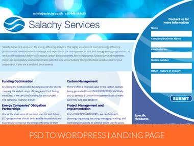 PSD to Wordpress Landing Page
