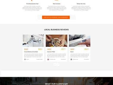 Business Listing website layout