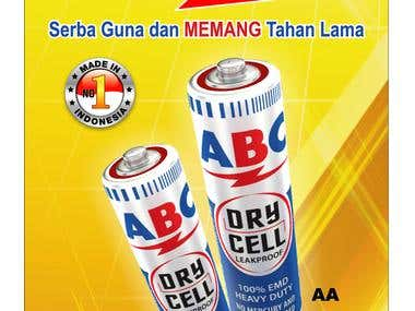 Poster Size A3 ABC Battery