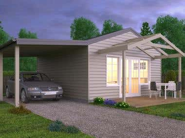 Small Semi Pre-Fabricated House