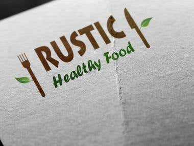 logo for healthy food rest